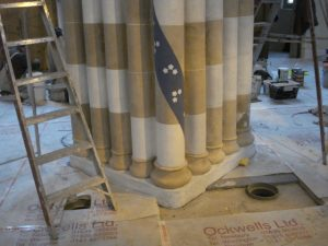 St Andrews Cathedral ornamental plaster work cornice 16