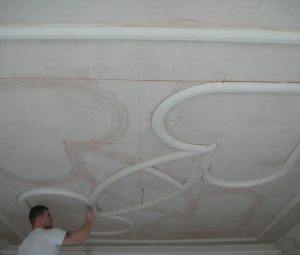 Panel moulds were replicated in our workshop then fitted to new ceiling to original layout.