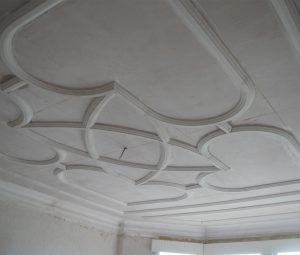 lath plaster and panel ceiling