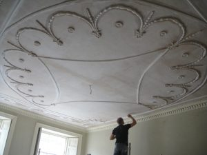 Plaster ceiling repaired