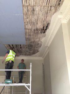 Restoring Adams style ceiling 4