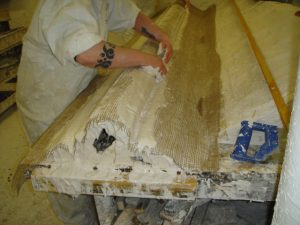 making-plaster-moulds-halcyon-cornice-Glasgow