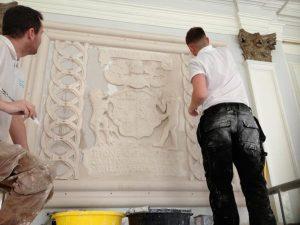 Killochan Castle plaster repairs 10
