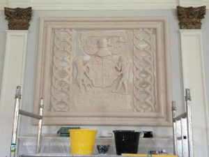 Killochan Castle plaster repairs 9