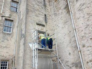 Killochan Castle plaster repairs 19