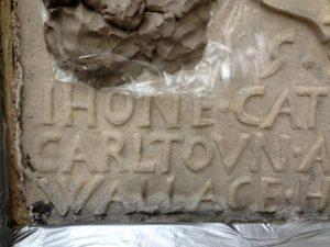 Killochan Castle plaster repairs 18