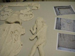 Killochan Castle plaster repairs 17